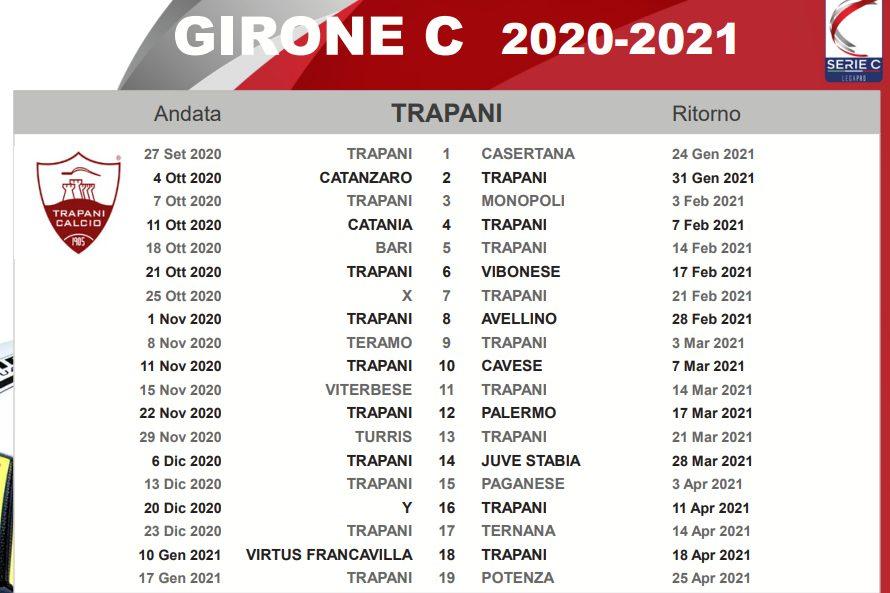 Calendario Trapani, tutte le sfide dei granata   Trapani Granata